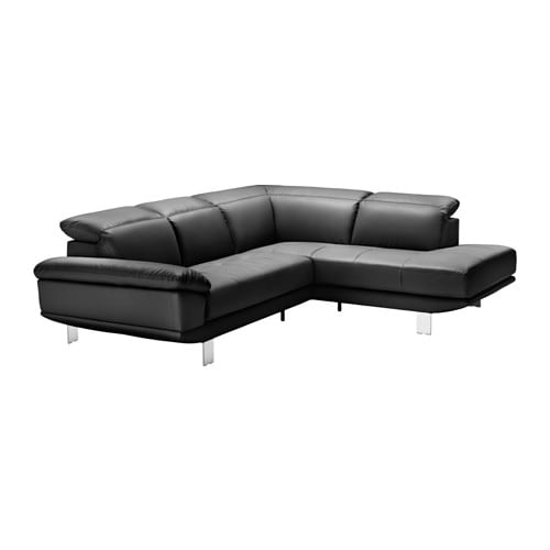 Saxbyn canap 2places m ridienne droite kimstad noir ikea for Canape meridienne ikea