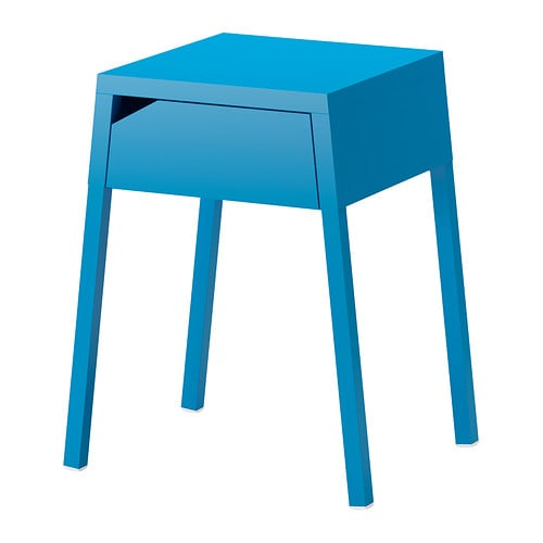 Selje table de chevet bleu ikea for Table de chevet bleu