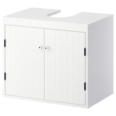 SILVERÅN Élément bas lavabo 2 portes, blanc, 60x38x51 cm