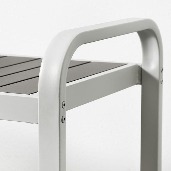 SJÄLLAND table+2 chaises+banc, ext gris foncé/Frösön/Duvholmen bleu 156 cm 90 cm 73 cm