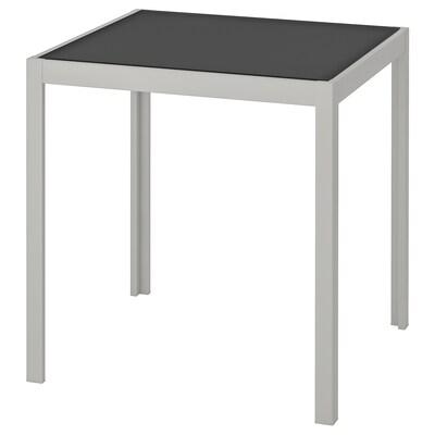 SJÄLLAND table, extérieur verre gris/gris clair 71 cm 71 cm 73 cm