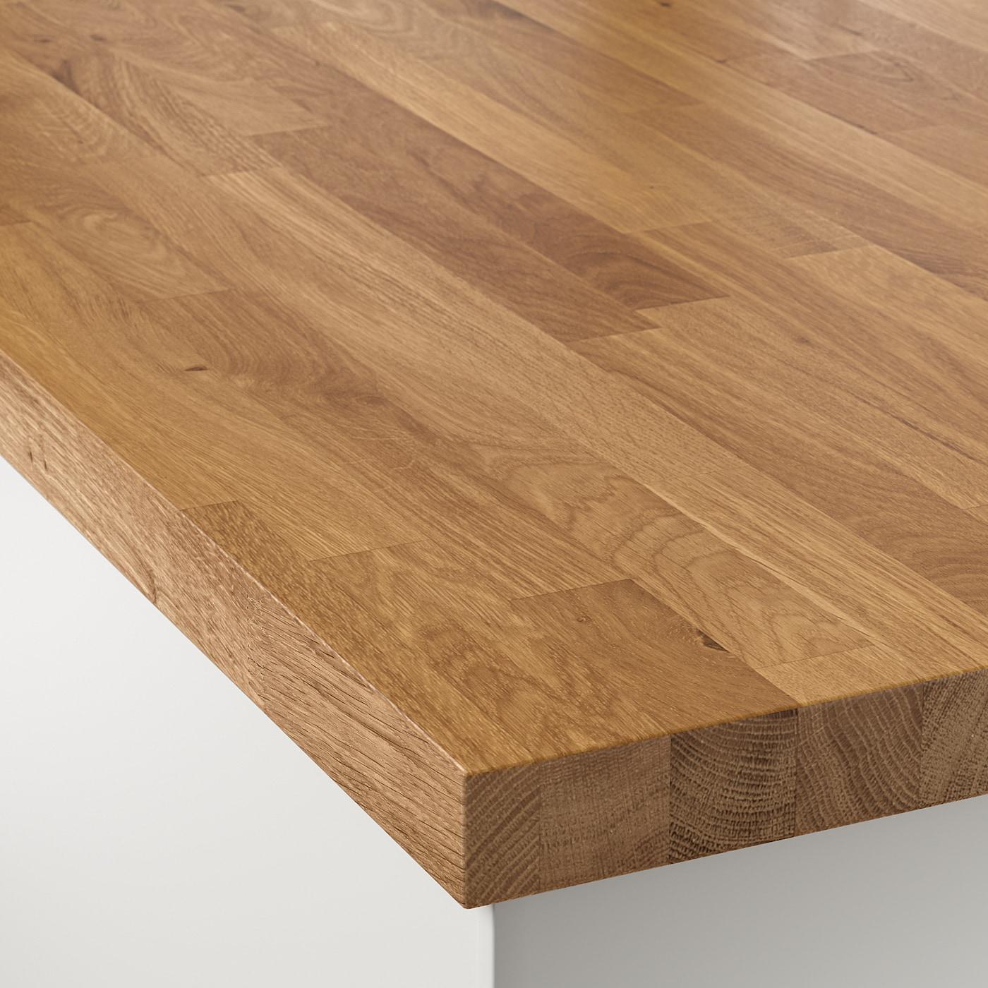 Plan De Travail Ikea Bois Massif skogarp plan de travail sur mesure - chêne, bois massif 45.1-63.5x4.0 cm