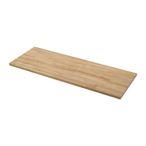 Skogarp plan de travail sur mesure 45 1 cm ikea - Plan de travail salle de bain ikea ...