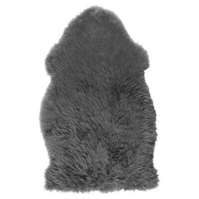 SKOLD peau de mouton gris 90 cm 55 cm 5 cm 0.64 m²