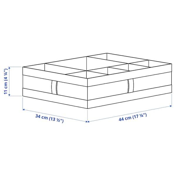 SKUBB Boîte à compartiments, gris foncé, 44x34x11 cm
