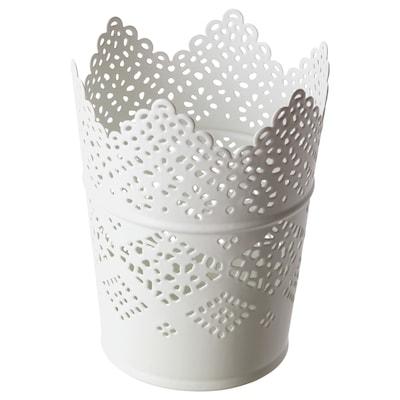 SKURAR bougeoir blanc 12 cm