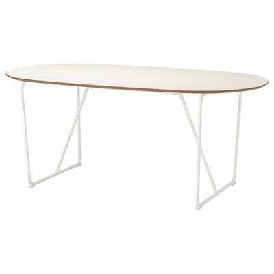 SLÄHULT Table, blanc/Backaryd blanc, 185x90 cm