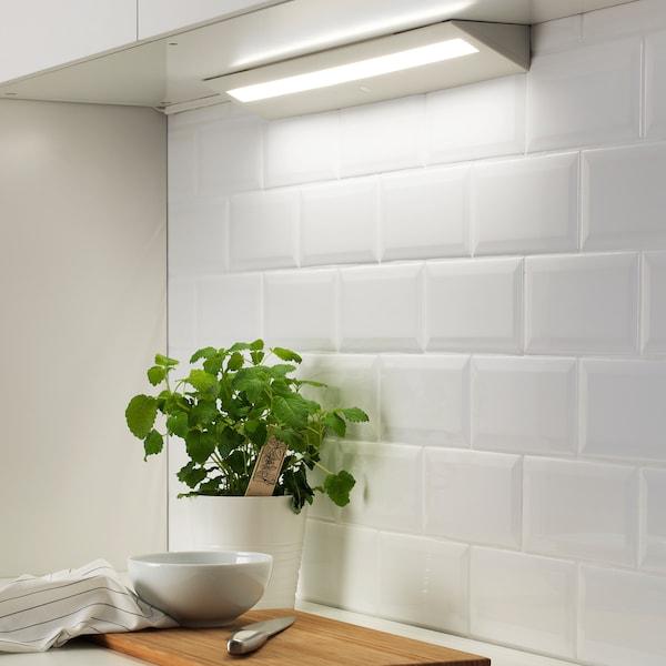 SLAGSIDA Éclairage plan travail à LED, blanc, 60 cm
