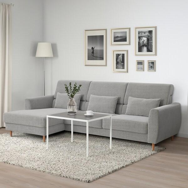 SLATORP Canapé 3 places, avec méridienne, gauche/Tallmyra blanc/noir
