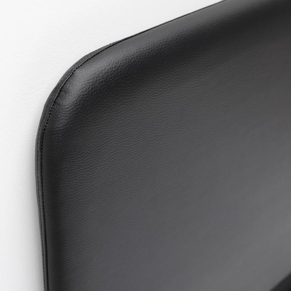 SLATTUM Cadre de lit matelassé, Bomstad noir, 160x200 cm