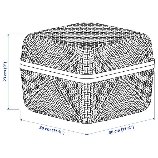 SMARRA Boîte avec couvercle, naturel, 30x30x23 cm