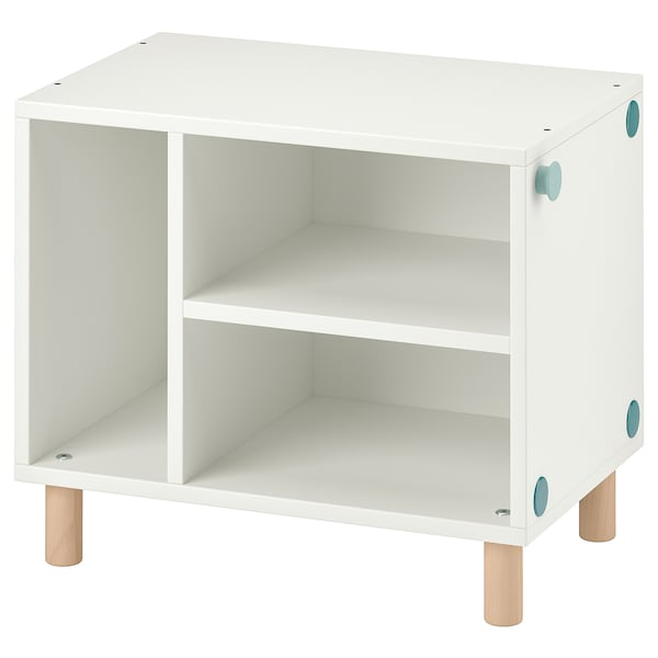 SMUSSLA Table de chevet/étagère, blanc