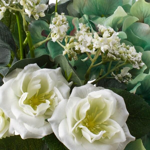 SMYCKA Bouquet artificiel, blanc, 35 cm