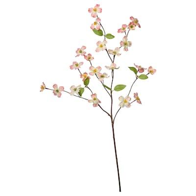 SMYCKA Fleur artificielle, intérieur/extérieur/Cornouiller à fleurs rose, 56 cm
