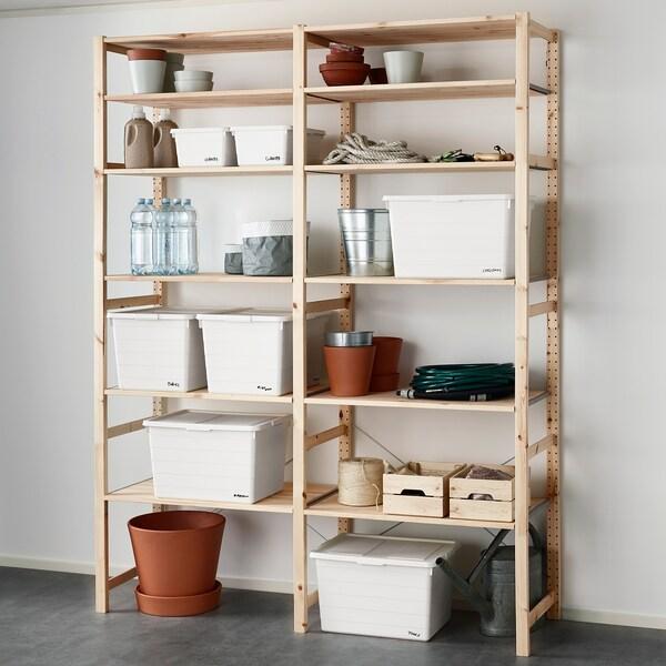 SOCKERBIT Boîte avec couvercle, blanc, 38x51x30 cm