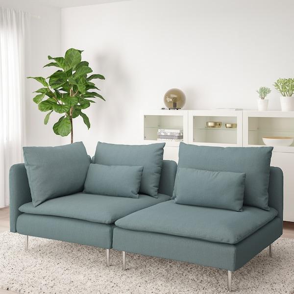 SÖDERHAMN Canapé 3 places, sans accoudoir/Finnsta turquoise