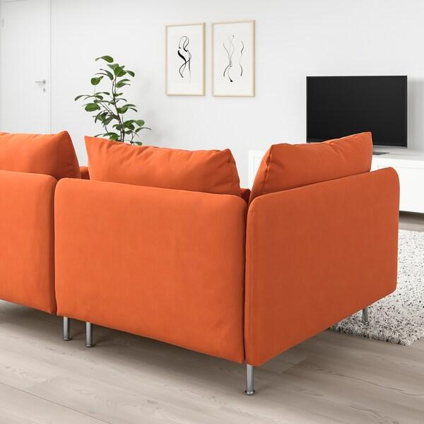 SÖDERHAMN Canapé 3 places, sans accoudoir/Samsta orange