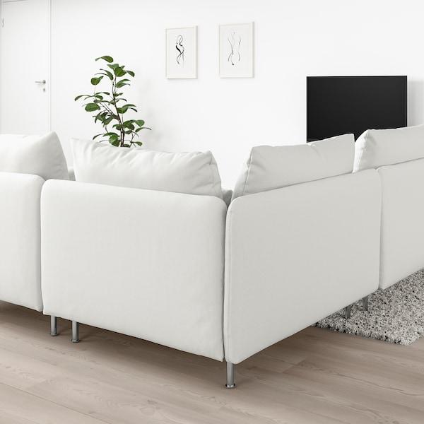 SÖDERHAMN Canapé d'angle, 3 places, Finnsta blanc