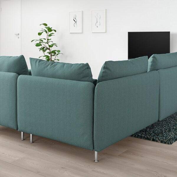 SÖDERHAMN Canapé d'angle, 3 places, Finnsta turquoise