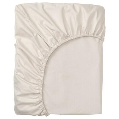 SÖMNTUTA drap housse pour surmatelas beige clair 400 pouce carré 200 cm 160 cm 8 cm