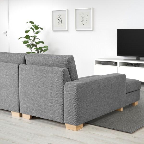 SÖRVALLEN canapé 2 places Lejde gris/noir 203 cm 102 cm 88 cm 58 cm 60 cm 45 cm