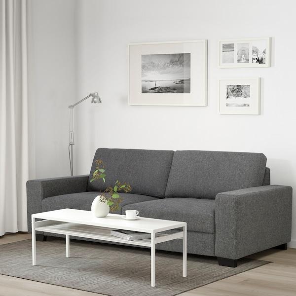 SÖRVALLEN Canapé 3 places, Lejde gris foncé