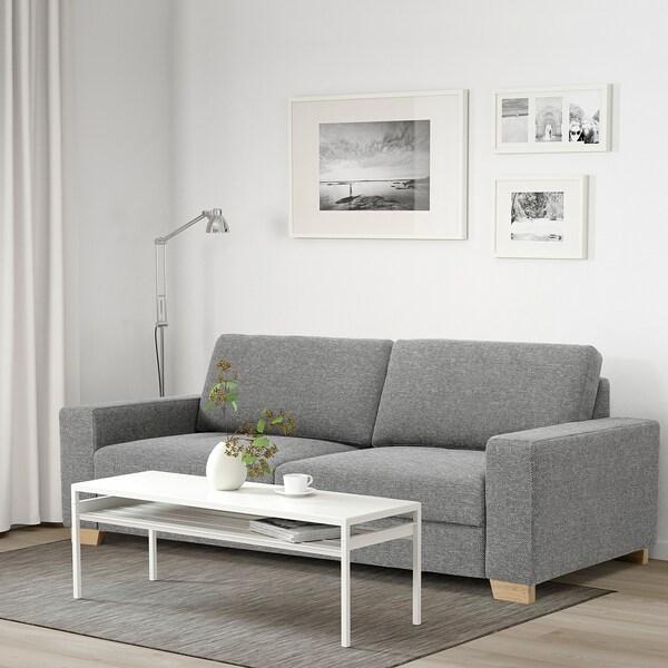 SÖRVALLEN Canapé 3 places, Lejde gris/noir