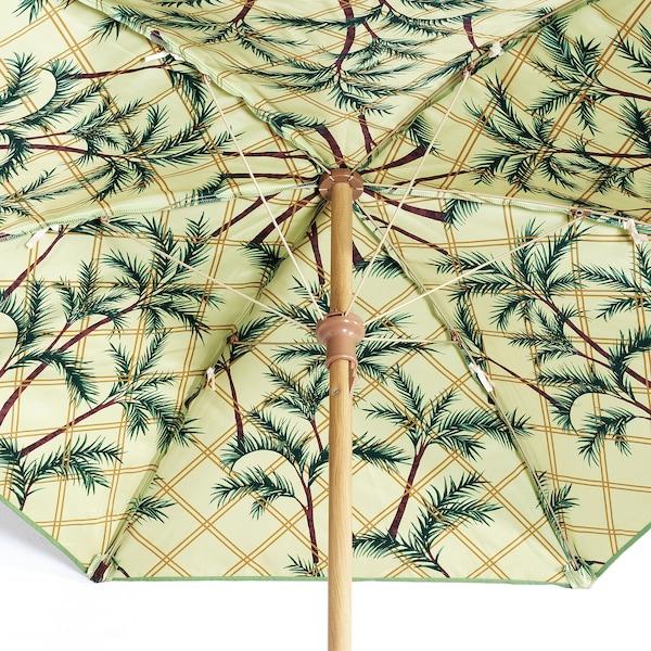 SOLBLEKT Parasol, motif palme vert, 185 cm