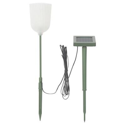 SOLVINDEN Borne à énergie solaire à LED, extérieur en forme de cloche/fleur blanc