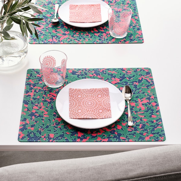 SOMMARLIV set de table multicolore 40 cm 30 cm