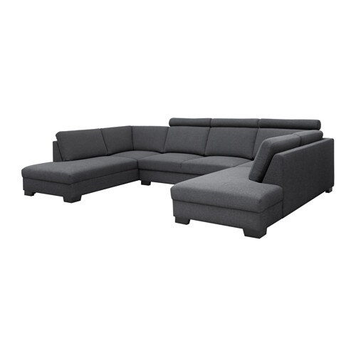 s rvallen canap en u 4 places ten gris fonc ikea. Black Bedroom Furniture Sets. Home Design Ideas