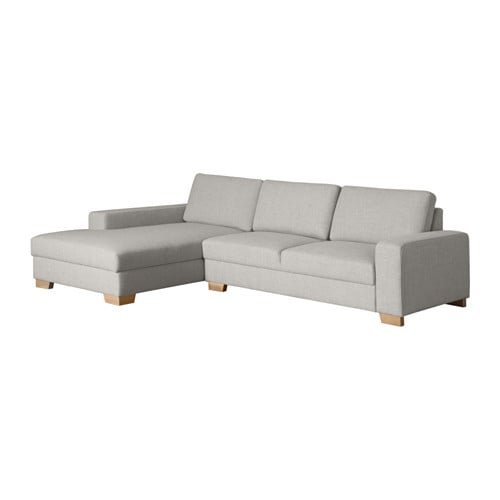 S rvallen canap 2 places m ridienne gauche ten gris for Canape gris ikea