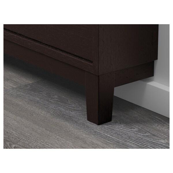 STÄLL range-chaussures 4 casiers brun noir 96 cm 17 cm 90 cm
