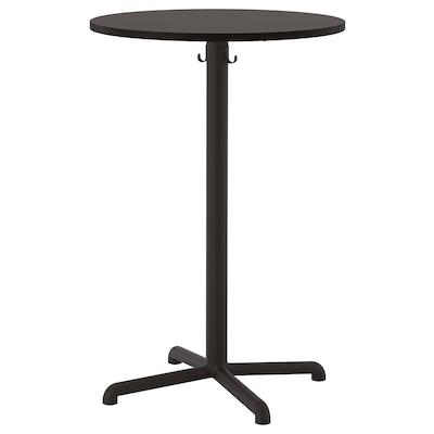 STENSELE Table de bar, anthracite/anthracite, 70 cm