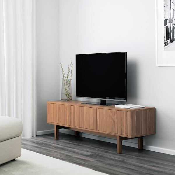 STOCKHOLM banc TV plaqué noyer 160 cm 40 cm 50 cm 50 kg 20 kg