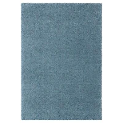 STOENSE Tapis, poils ras, bleu moyen, 133x195 cm