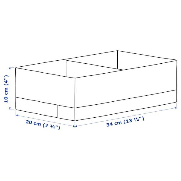 STUK Rangement à compartiments, blanc, 20x34x10 cm