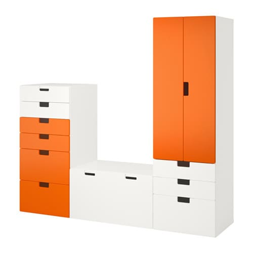 stuva combinaison de rangement blanc orange ikea. Black Bedroom Furniture Sets. Home Design Ideas