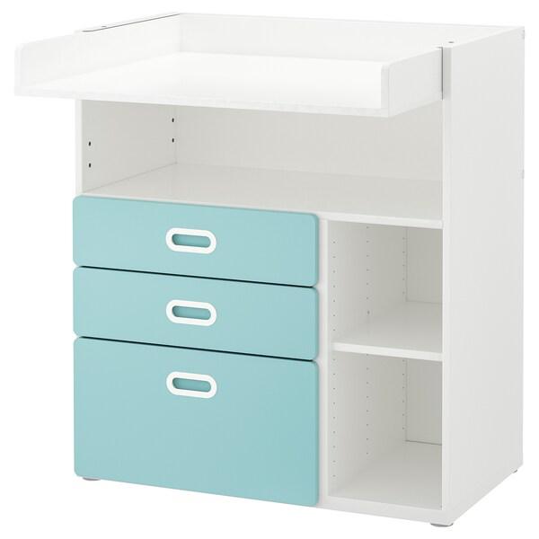 langer à STUVA FRITIDS tiroirs blancbleu Table clair qzVjSpLUMG