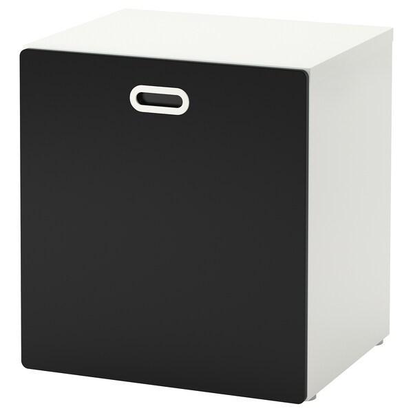 STUVA / FRITIDS Rangement jouets sur roues, blanc/surface tableau noir, 60x50x64 cm