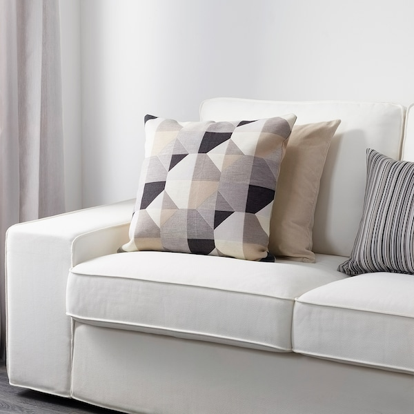 SVARTHÖ Housse de coussin, beige, 50x50 cm