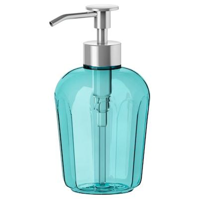 SVARTSJÖN distributeur savon turquoise 15 cm 350 ml