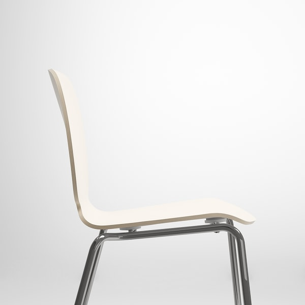 SVENBERTIL Chaise, blanc/Broringe chromé
