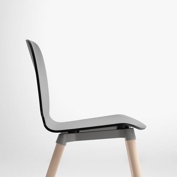 SVENBERTIL Chaise, noir/Ernfrid bouleau