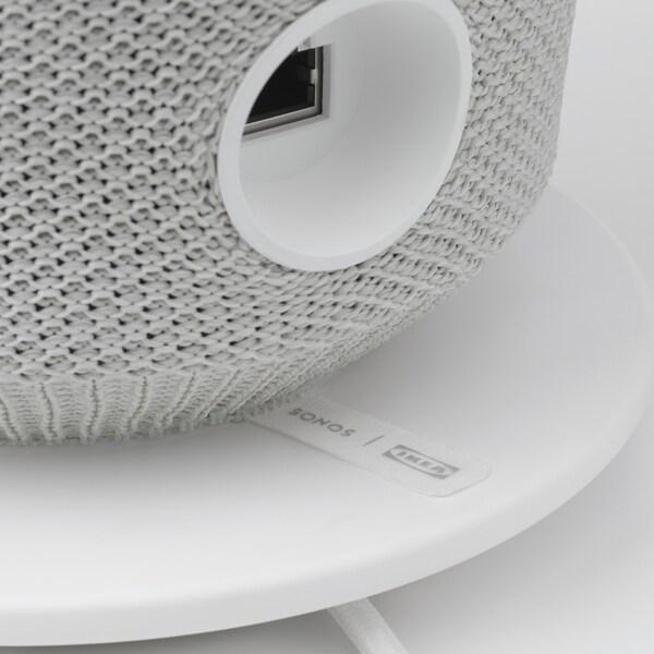 SYMFONISK Enceinte WiFi lampe de table, blanc