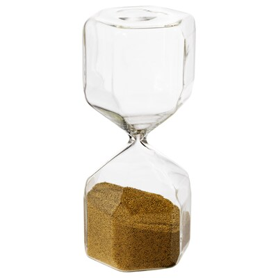 TILLSYN Sablier décoratif, verre transparent, 16 cm
