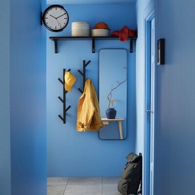 TJUSIG Kit 3p, miroir+patère+horloge
