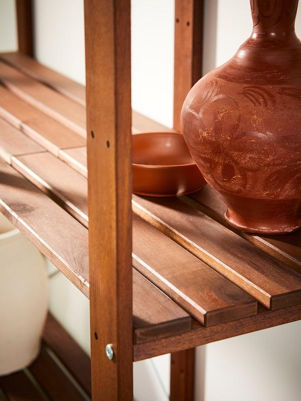 TORDH Étagère, extérieur, teinté brun, 50x35x90 cm