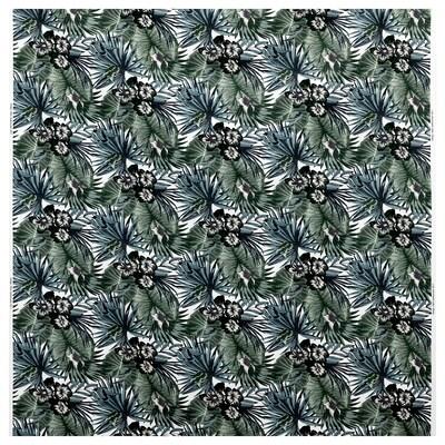 TORGERD Tissu au mètre, blanc/vert, 150 cm
