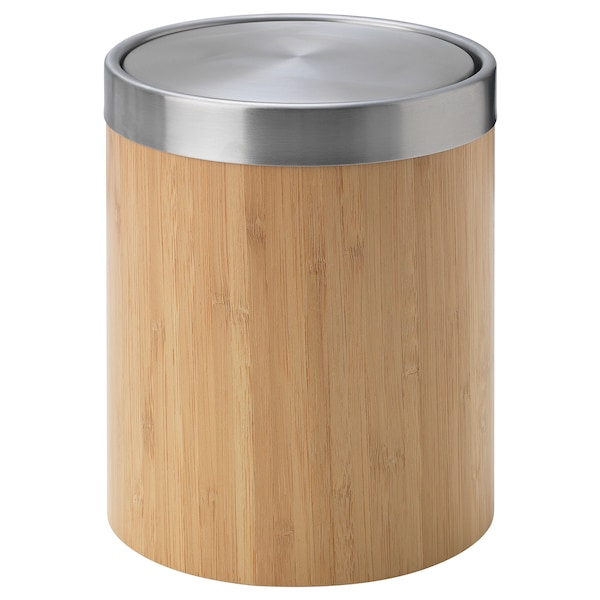 Trasket Poubelle Acier Inoxydable Placage Bambou Ikea Suisse